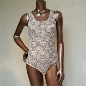 Foverever21 Blush Lace Bodysuit/Leotard